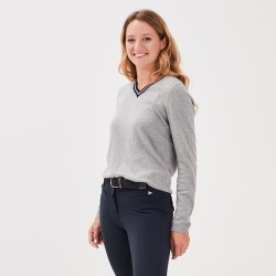 Janama Women V-neck sweater Grey Gaze