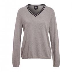 Janama Women V-neck sweater Grey Gaze