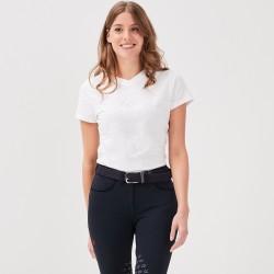 Jazzie T-shirt collo V bianca donna Gaze