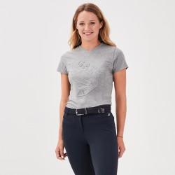 Jazzie Tee-shirt colo V Grigio Donna