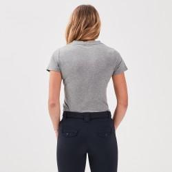 Jazzie: Tee-shirt col V gris femme de chez Gaze