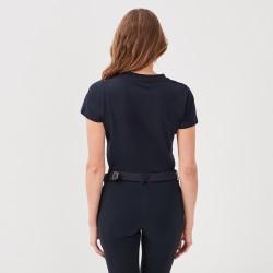 Jazzie: Tee-shirt col V noir femme de chez Gaze