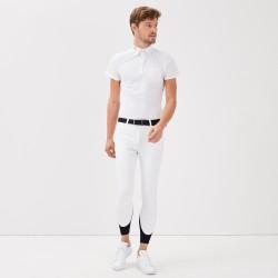 Jerico Polo concours Blanc homme Gaze