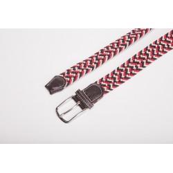 Javisko:Unisex Blue White Red Belt Gaze