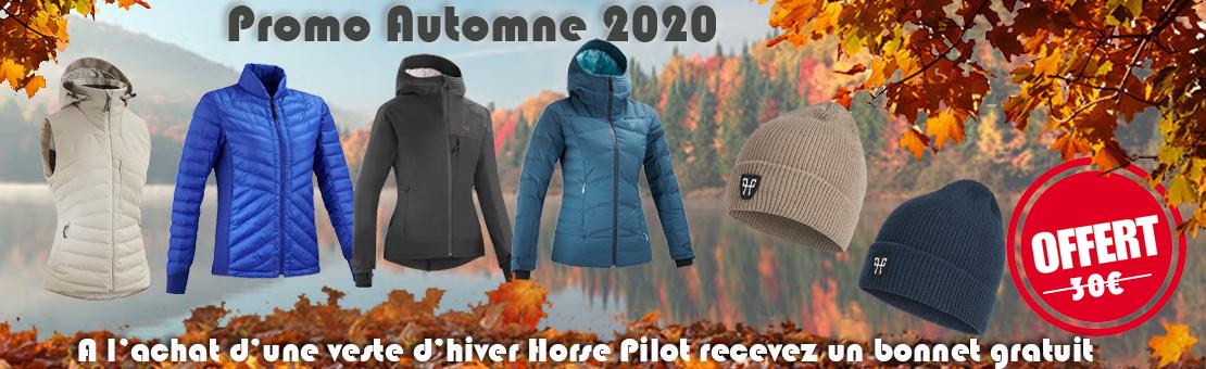 Recevez un bonnet Horse Pilot Gratuit à l'achat d'une veste d'hiver de la même marque
